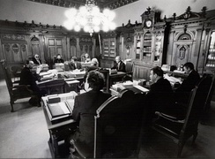 Before a meeting 1987