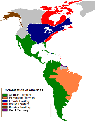 Territories in the Americas claimed by a European great power in 1750