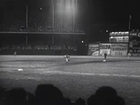 A night game at Ebbets Field, 1950