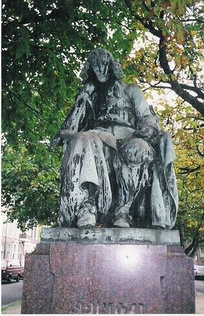 Statue of Spinoza, near his house on the Paviljoensgracht in The Hague by Frédéric Hexamer.