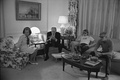 Ford family watches news coverage of the assassination attempt at 11 p.m. (8 p.m. PDT) on the White House's second floor