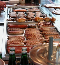 Bratwurst, one of the most popular foods in Germany
