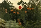 Henri Rousseau, Tropical Landscape: American Indian Struggling with a Gorilla, 1910