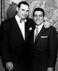 Bennett (right) with Chicago columnist and talk show host Irv Kupcinet, during the 1950s