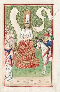 Jan Hus burnt at the stake