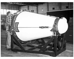 Jupiter was designed in an era when nuclear weapons were still very large and heavy. Its large reentry vehicle is typical of missile designs of the 1950s.