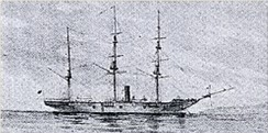 Kanrin Maru, Japan's first screw-driven steam warship, 1855
