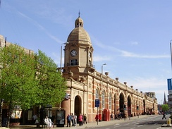 Leicester railway station – built-in 1894 to replace, largely on the same site, Campbell Street station, the origin for many of Cook's early tours.