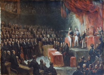 Louis-Philippe takes his oath before the two Chambers (1830)