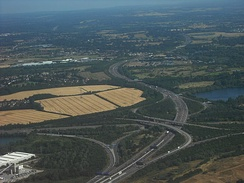 M4 junction with the M25 near Heathrow Airport