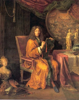 Pierre Mignard, Self-portrait, between 1670 and 1690, oil on canvas, 235 cm × 188 cm (93 in × 74 in), Louvre