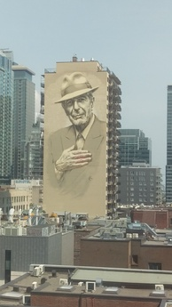Wall dedicated to Leonard Cohen in Montreal