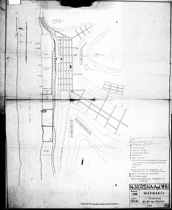 План-схема г. Мурманска 1944 года, №1146, подготовленная в VI Департаменте (Amt VI) Главного Управления Имперской Безопасности (RSHA) фашистской Германии.