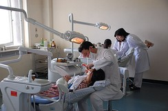 A dental clinic at Pyongyang Maternity Hospital