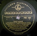 Please Please Me by The Beatles (side 1) – 1963. Parlophone gold and black label