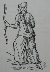 Reproduction of a Parthian archer as depicted on Trajan's Column.