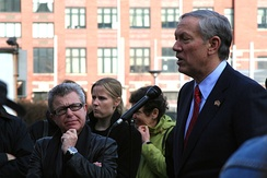 Pataki at the Freedom Tower foundation, speaking to family members of 9/11 victims
