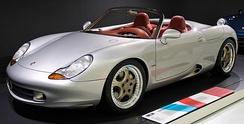 The 1993 Porsche Boxster concept, prior to the production model. Notice the different side air intake.