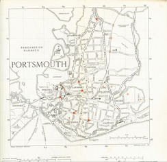 A partial roadmap of part of Portsmouth in 1948