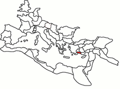 A map showing Pamphylia's location within the Roman Empire