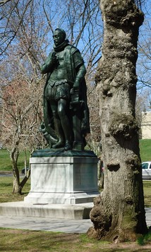 Place on the western end of Voorhees Mall, a bronze statue of William the Silent commemorates the university's Dutch heritage.[28]