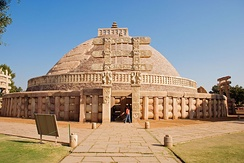 The Great Stupa in Sanchi Town (Madhya Pradesh, India)