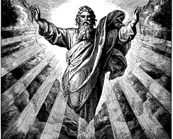 An image of God the Father by Julius Schnorr, 1860