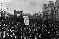Demonstration after the Tragic Week, 1909
