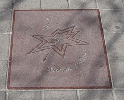 Twain's star on Canada's Walk of Fame