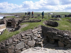Scara Brae. A Neolithic settlement, located on the west coast of Mainland, Orkney.