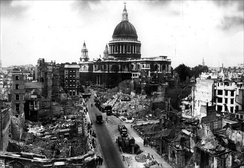 WWII bomb damage advanced the move to preserve architecturally significant buildings.