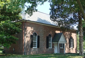 The historic church of St. Mary's, Whitechapel, in Lancaster County, St. Mary's parish was the birthplace of Mary Ball Washington, mother of George Washington
