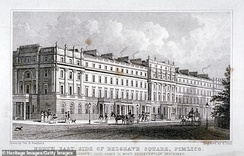 Belgrave Square in the late 1820s, shortly after construction