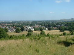 View over Tring, looking north