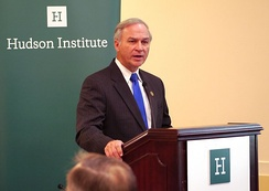 Forbes speaks at Hudson Institute's Center for American Seapower in 2015