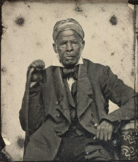 Omar ibn Said, a Senegalese Islamic scholar enslaved in North Carolina for more than 50 years, circa 1850