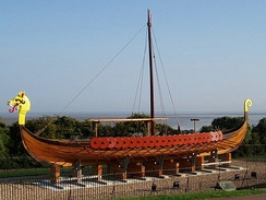 The Hugin Viking longship in Pegwell.
