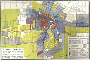 Example of Single-Use Zoning Regulations (Greater Winnipeg District Map, 1947)