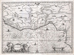 A map of West Africa in 1670