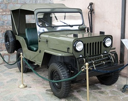 A 1963 Türk Willys Overland CJ-3B on display at the Rahmi M. Koç Museum of Transportation, Istanbul