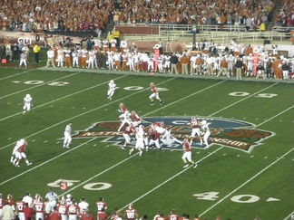 BCS Championship game at the Rose Bowl, Pasadena, California, January 7, 2010, Alabama vs. Texas