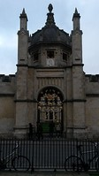 The gates on Radcliffe Square