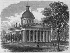 The Third Indiana Statehouse (1835–1877).