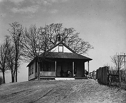 Amish schoolhouse in Lancaster County, Pennsylvania, in 1941.