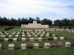 The Commonwealth War Graves Commission serves to commemorate 1.7 million Commonwealth war dead and maintains 2,500 war cemeteries around the world, including this one in Gallipoli.