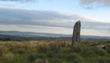 Large menhir located between Millstreet and Ballinagree, County Cork, Ireland