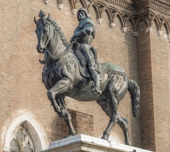 Monument to Bartolomeo Colleoni (1400-1475), captain-general of the Republic of Venice from 1455-1475.