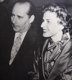 With husband Roberto Rossellini in 1951
