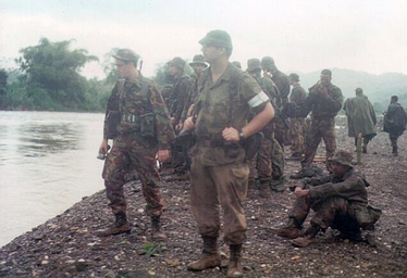 A Lincoln and Welland Regiment NCO attached to a rifle company of the affiliated Bermuda Regiment, training in Jamaica, 1996.