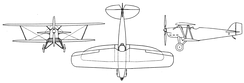 Boeing XP-8 3-view drawing from L'Aéronautique October,1927